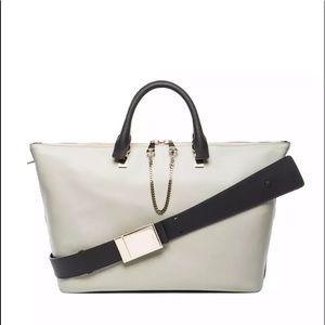 CHLOE Two-Tone Calfskin BAYLEE Satchel Bag